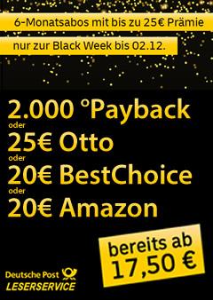 LS Black Week: 6-Monatsabos bis 25€ Prämie - ab 17,50€ Kosten Titelbild