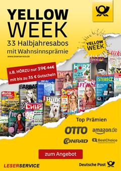 Leserservice Yellow Week 2020 Titelbild