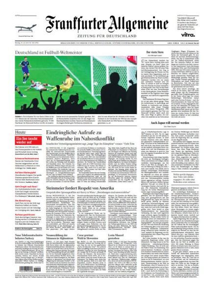 FAZ - Frankfurter Allgemeine Zeitung Abo Titelbild