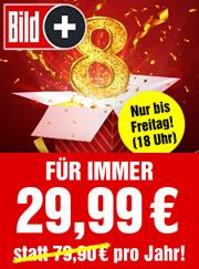 BILD plus Jubiläumsaktion: dauerhaft 29,99€ / Jahr Titelbild