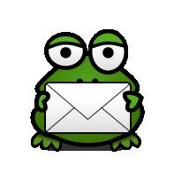 Newsletter-Frosch