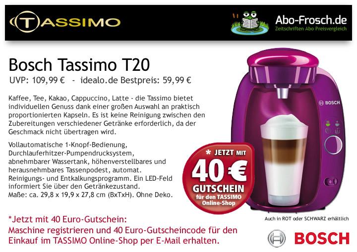 Tassimo Gutschein 40